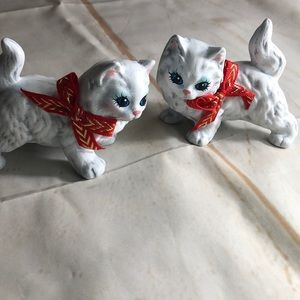 Handmade Kitty Ceramics Set of 2
